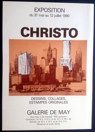 Poster Christo - Christo - Galerie de May 1980