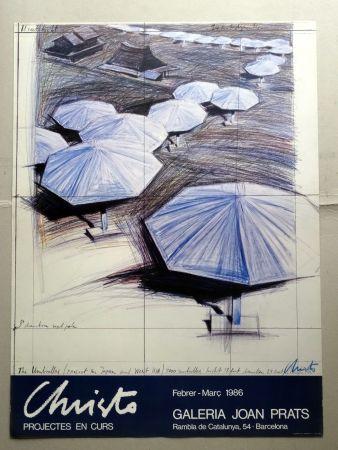 Poster Christo - Christo Joan Prats 1986 signed by artist