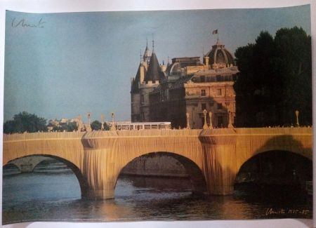Poster Christo - Christo's Wrapped Pont Neuf Paris - Handsigned