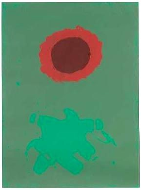 Screenprint Gottlieb - Chrome Green (1972)