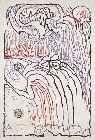 Engraving Alechinsky - Chute libre