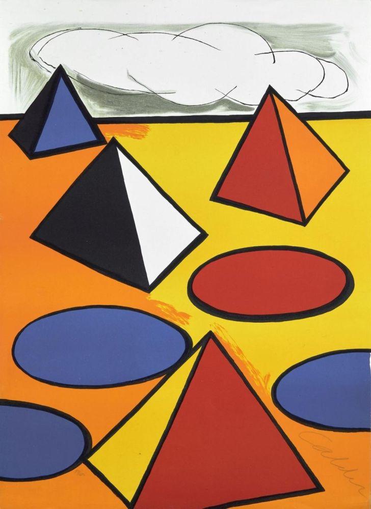 Lithograph Calder - Ciel d'orage - 1976