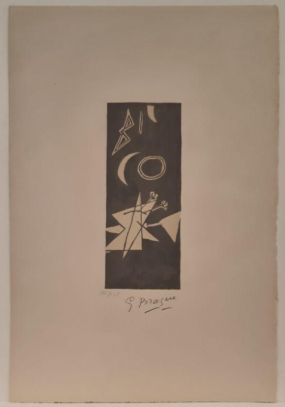 Lithograph Braque - Ciel Gris II