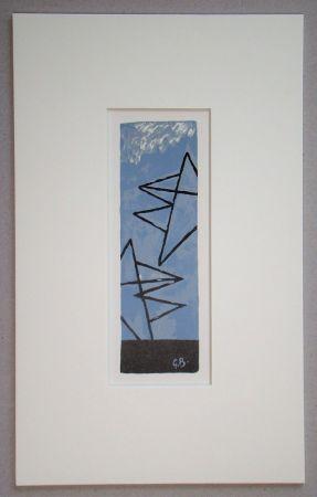 Lithograph Braque (After) - Ciel Gris II.