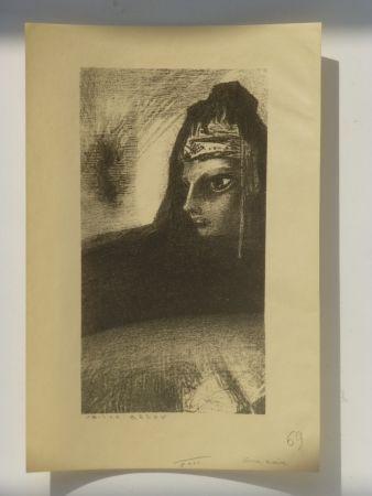 Lithograph Redon - Cime noire