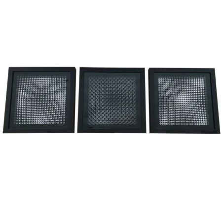 No Technical Vasarely - Cinétiques VI Black 3 works
