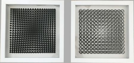 No Technical Vasarely - Cinétiques VI White 2 works