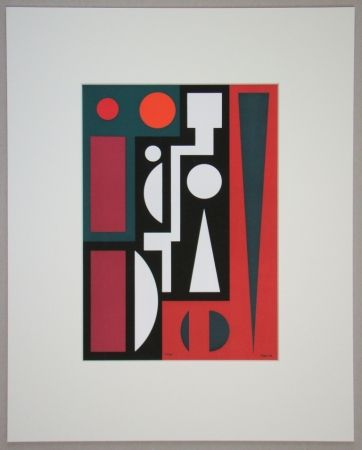 Screenprint Herbin - Cinq, 1954