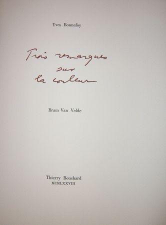 Illustrated Book Van Velde - Cinq remarques sur la couleur