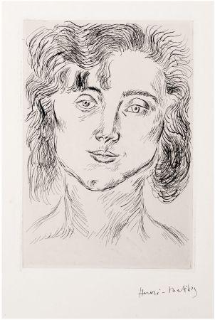Engraving Matisse - CINQUANTE DESSINS. GRAVURE ORIGINALE SIGNÉE : La fille de l'artiste (1920).
