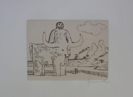 Engraving Fiume - Cinque acqueforti per i greci tradotti da Salvatore Quasimodo