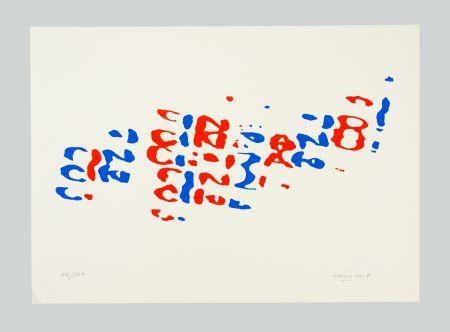 Lithograph Hains - Cinzano