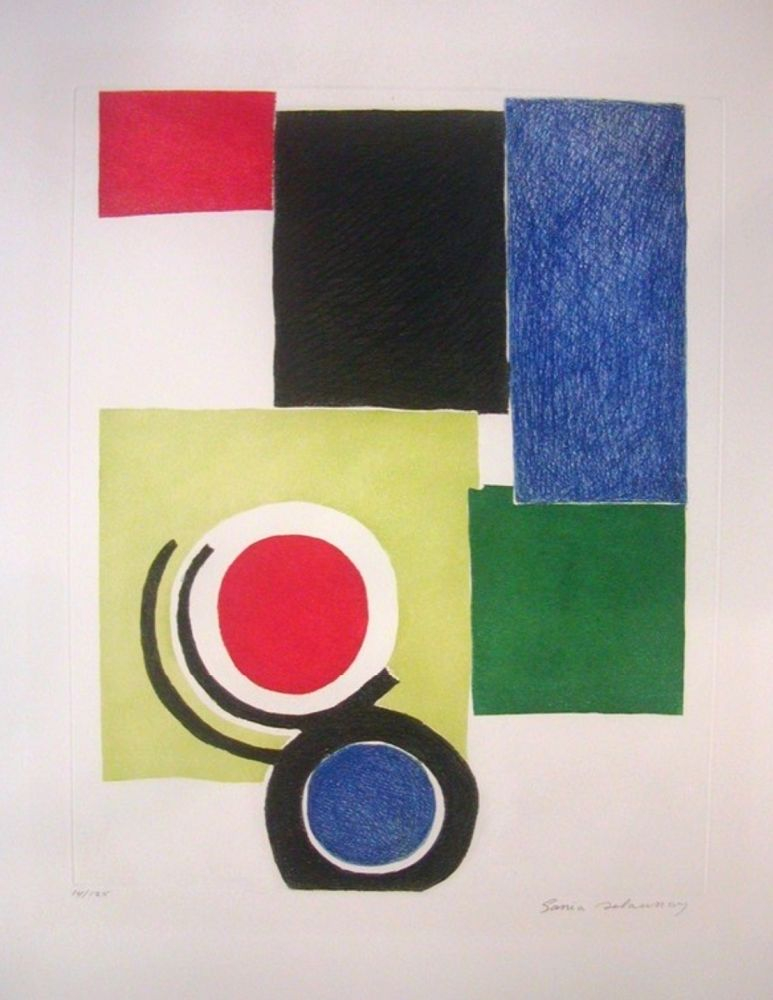 Etching Delaunay - Circle Composition