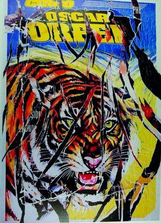 Screenprint Rotella - Circo Orfei