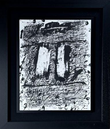 Lithograph Tàpies - CIRCULO DE PIEDRA