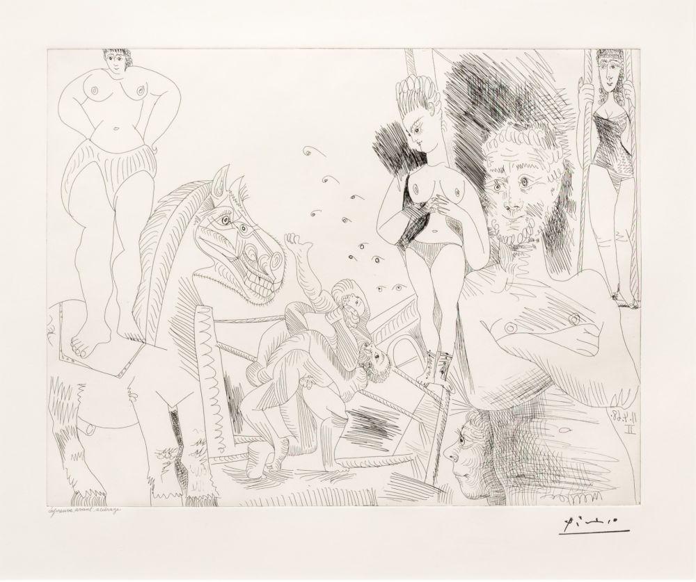 Etching Picasso - Cirque et Catch