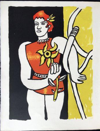 Lithograph Leger - Cirque : Jongleuse au Tournesol. 1950