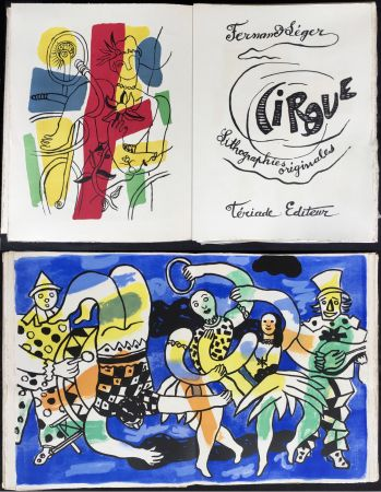 Illustrated Book Leger - CIRQUE. Lithographies originales de Fernand Léger. Tériade 1960