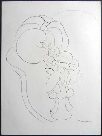 Lithograph Matisse - Citrouille et Fleurs