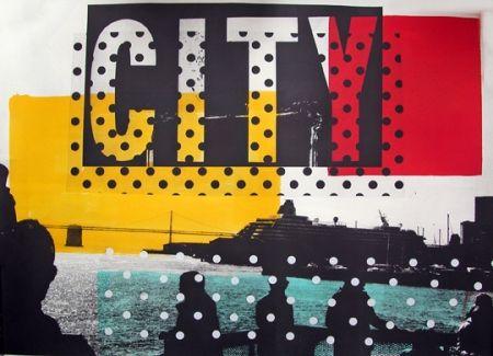 Lithograph Soulie - CITY Lithographie de Tony SOULIE