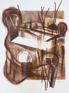 Lithograph Macotela - Ciudad y sombras