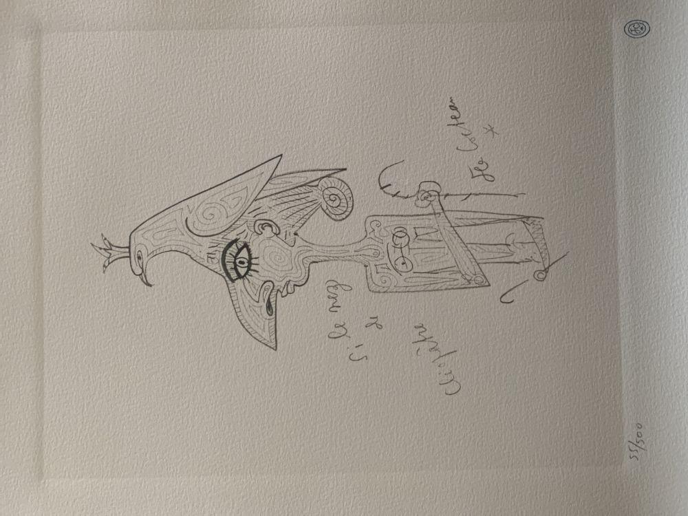 Lithograph Cocteau - Cléopatre hommage à Jean Cocteau
