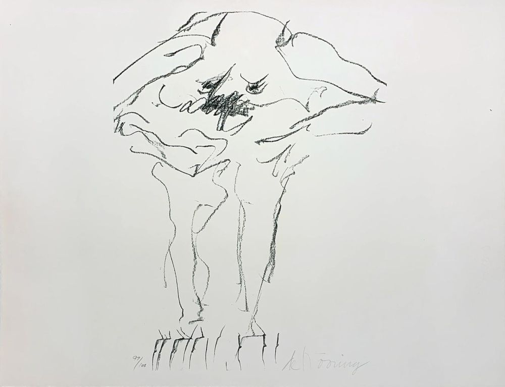 Lithograph De Kooning - Clam Digger from Portfolio 9