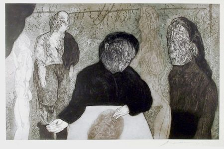 Etching And Aquatint Cuevas - Clase de Anatomia from the Intolerance Portfolio
