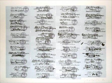 Lithograph Gasiorowski - Classe de 3ème