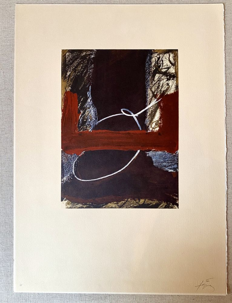 Lithograph Tàpies - Clau 7