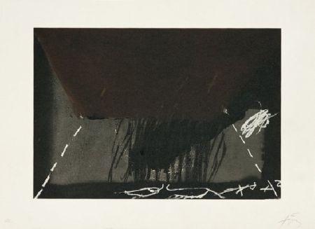 Lithograph Tàpies - Clau de foc 12