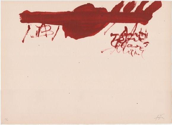 Lithograph Tàpies - Clau de foc 13