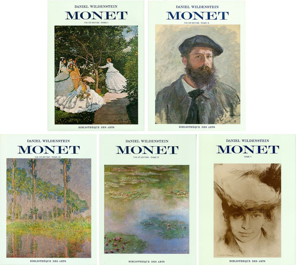 Illustrated Book Monet - CLAUDE MONET. CATALOGUE RAISONNÉ (Peintures, pastels et dessins). 5 volumes. 1974-1991