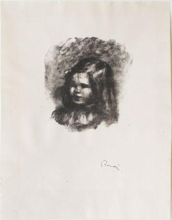 Lithograph Renoir - Claude Renoir, tourné à gauche