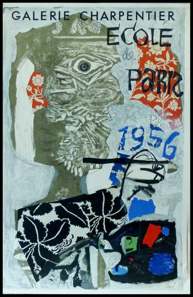 Poster Clavé - CLAVÉ - ECOLE DE PARIS, GALERIE CHARPENTIER