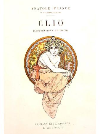 Lithograph Mucha - Clio