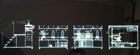 Multiple Delvoye - Cloaca x rayed B/W