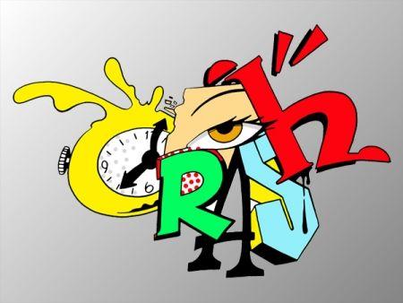 Screenprint Crash - Clock 2