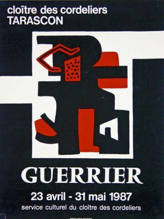 Lithograph Guerrier - Cloitre des Cordeliers Tarascon