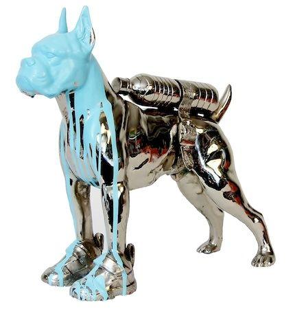 Multiple Sweetlove - Cloned bronze bulldog with bottle water