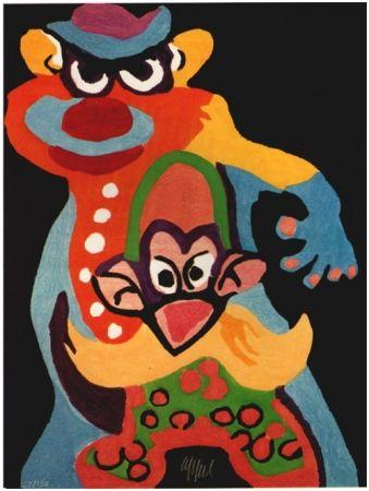 Woodcut Appel - Clown Anti-Robot