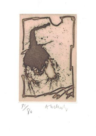 Engraving Alechinsky - '' Cobra ''