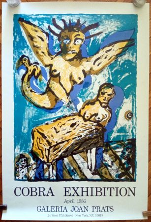 Poster Lucebert - COBRA EXHIBITION