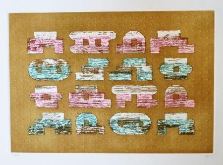 Etching And Aquatint Rojo - Codice 2