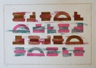 Etching And Aquatint Rojo - Codice 3