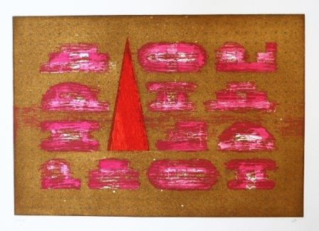 Etching And Aquatint Rojo - Codices 5