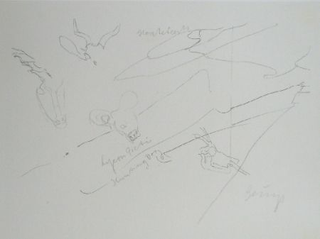 Lithograph Beuys - Codices Madrid 9