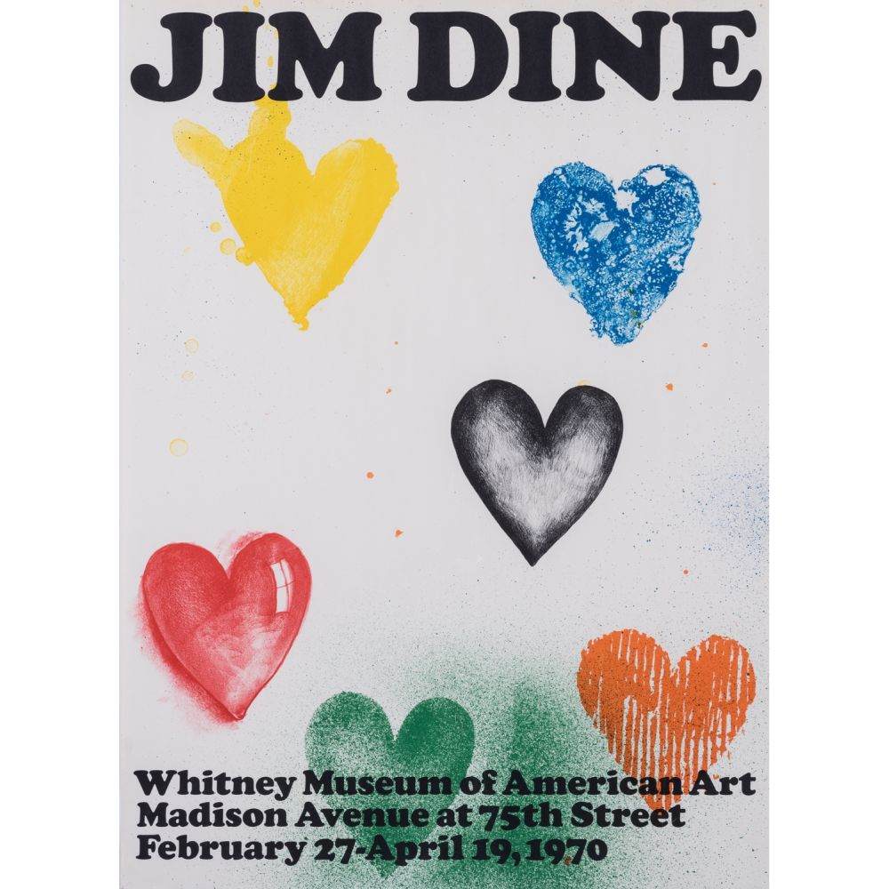 Poster Dine - Coeurs pour le Whitney