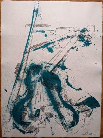 Lithograph Arman - Colère de violon I