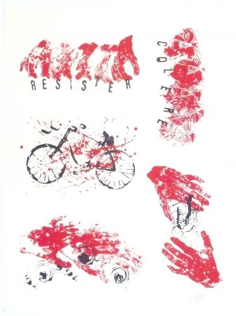 Lithograph Arman - Colère, Résister